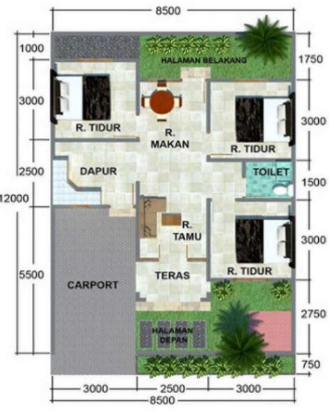 gambar denah rumah ukuran   kamar tidur  luki   denah rumah rumah minimalis