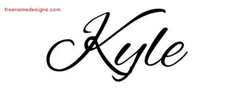 tattoo name kyle kyle archives free name designs
