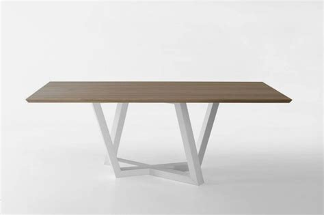 modern dining table with trapezoidal legs dedalo home - Modern Dining Table Legs