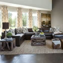 Living Room Decor With Brown Leather Sofa 17 Best Ideas About Family Room Curtains On Neutral Living Room Sofas Living Room