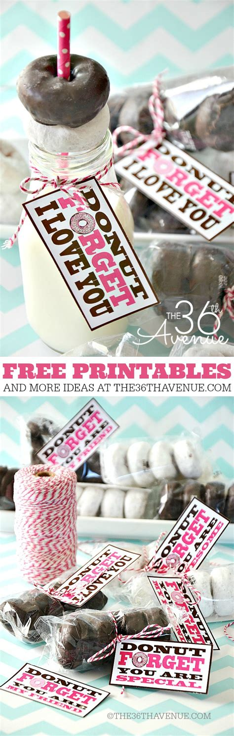 adorable valentine gift ideas the 36th avenue the 36th avenue free printable donut forget the 36th