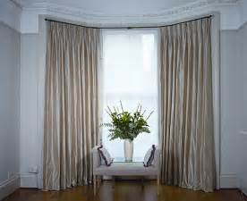 Best Way To Hang Curtain Rods dressing bay windows with curtains and blinds