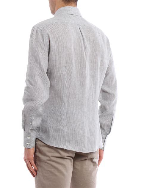 pattern for linen shirt striped pattern linen shirt by brunello cucinelli shirts