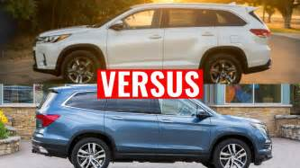 Compare Honda Pilot And Toyota Highlander 2016 Pilot Vs Toyota Highlander Comparison Doovi