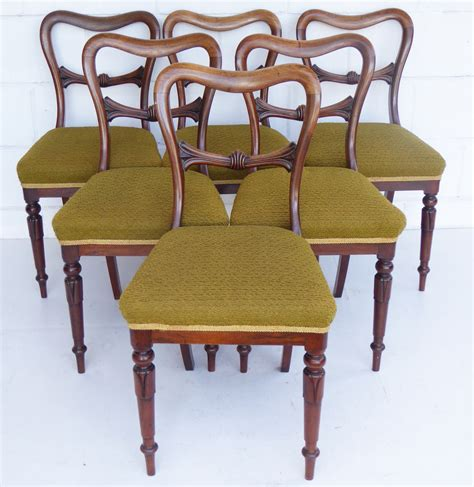 William Iv Dining Chairs Set Of 6 William Iv Rosewood Dining Chairs Loveantiques