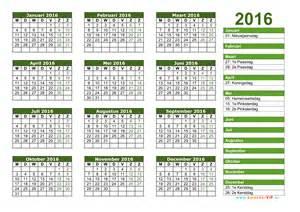Kalender 2016 jaarkalender en maandkalender 2016 met weeknummers en