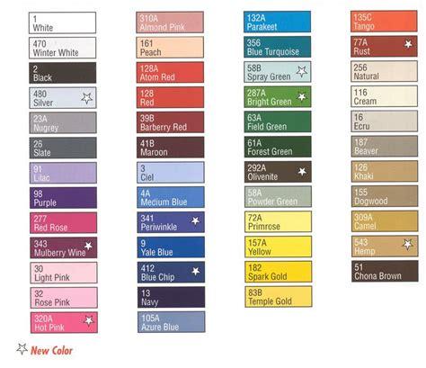 coats and clark thread color chart coats and clark thread color chart embroidery floss