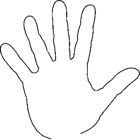 fingers 5 free printable hand coloring pages