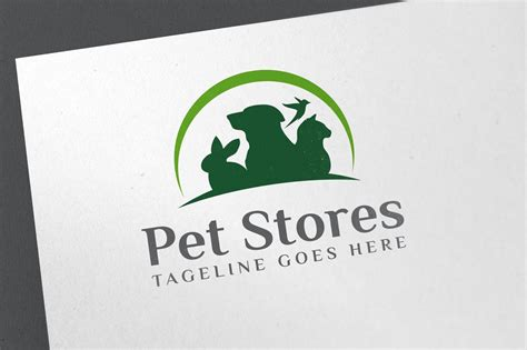 family pet store logo template logo templates creative pet store logo logo templates creative market