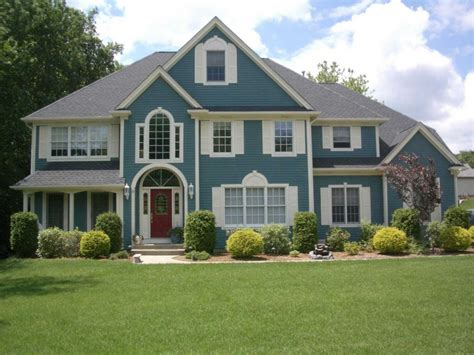 blue house exterior colour schemes exterior color schemes with gray accents traba homes