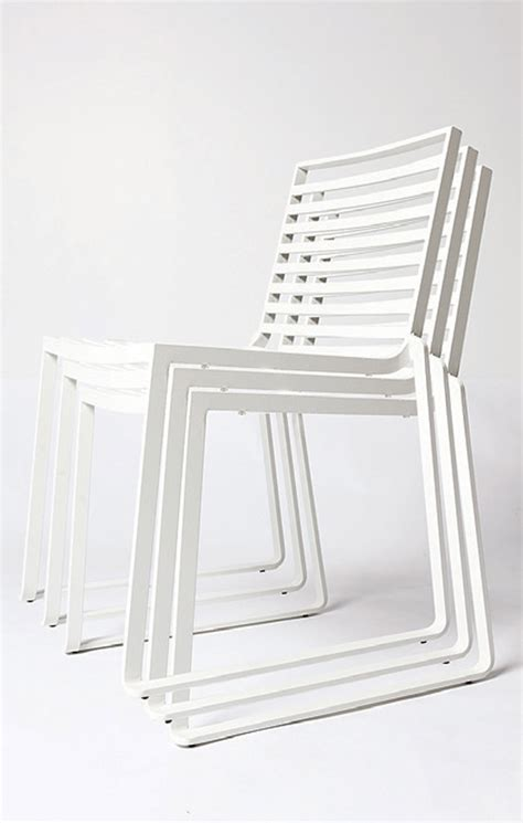 Modern White Outdoor Dining Chairs Design   Decobizz.com