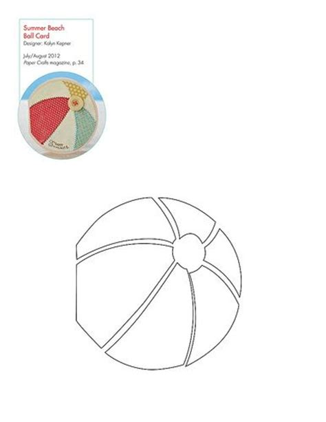 free beach ball pattern template templates and