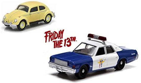 Greenlight Friday The 13th Vw Classic Bettle greenlight friday the 13th set of 2 cars volkswagen classic beetle 1977 dodge royal