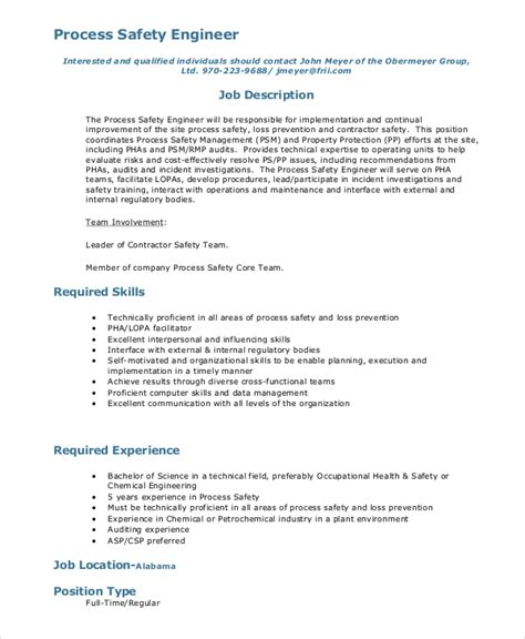 mechanical design engineer job description pdf sle process engineer job description 10 exles in pdf