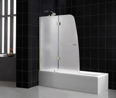 Aqua Glass Shower Door Aqua 48 Quot X 58 Quot Frosted Glass Bathtub Door Chrome Frosted Glass Door Modern Showerheads And