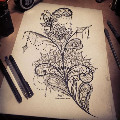 pattern tattoo girly 25 best ideas about thigh tattoo designs on pinterest