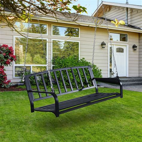 swing bench outdoor 2 person outdoor porch swing bench outsunny aosom com