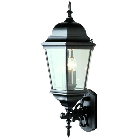 Outdoor Coach Light Bel Air Lighting Farmhouse 2 Light Outdoor Black Wall Lantern With Seeded Glass 40172 Bk The