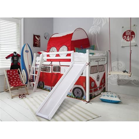 bed with slide and tent cervan cabin bed with slide tent tunnel noa nani