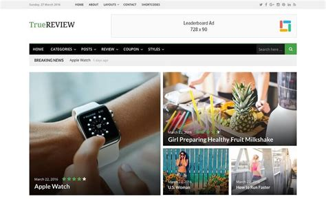 baseline v1 2 0 magazine wordpress theme themetf com truereview v1 0 2 stylish online magazine wordpress
