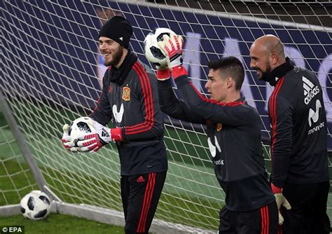 Adidas A 111 david de gea pepe reina and marc andre ter stegen slam world cup daily mail