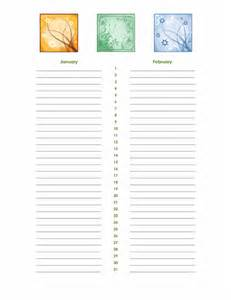 birthday and anniversary calendar template birthday and anniversary calendar office templates