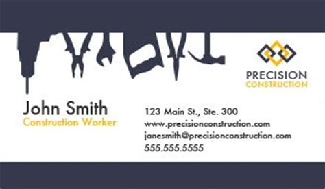 business card templates general contractors construction business cards design custom business cards