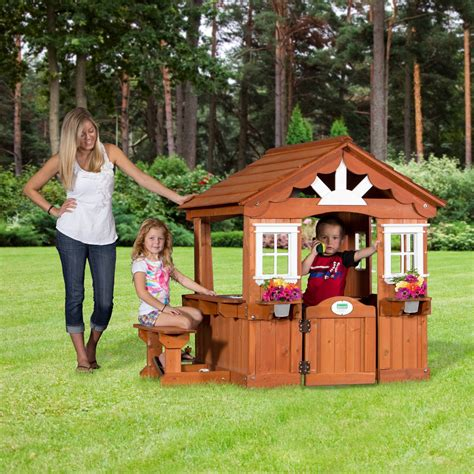 backyard cedar playhouse backyard discovery scenic playhouse outdoor playhouses