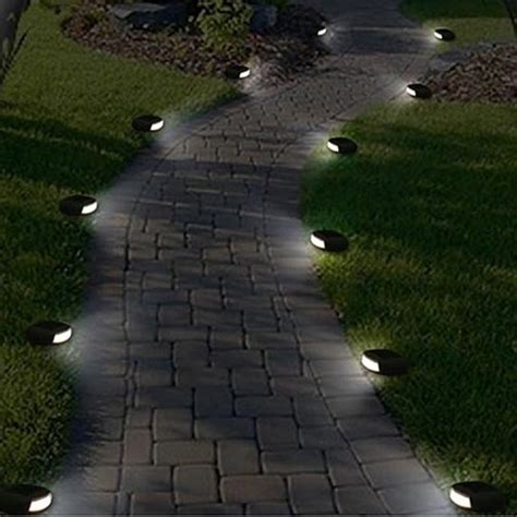 kichler solar path lights buy wireless solar led pebble pathway lights by