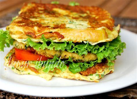 membuat roti untuk burger dapur ibundo burger temtahu roti telur