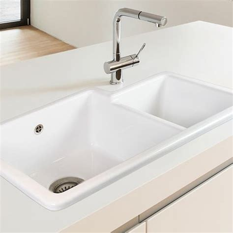 Shaws Kitchen Sinks by Shaws Brindle 800 1 75 Bowl Ceramic Kitchen Sink Sinks