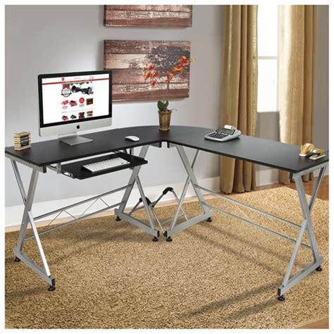 l shape corner desk bestchoiceproducts l shape wooden corner desk black