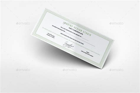 certificate design mockup gift certificate mockup by bagera graphicriver
