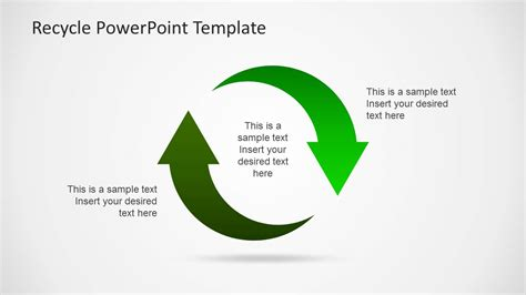 Eco Friendly Powerpoint Template With Recycle Icons Eco Friendly Ppt Templates Free