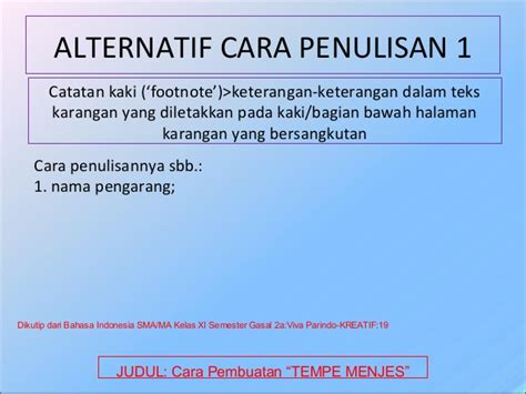 format menulis catatan kaki contoh footnote dalam bahasa indonesia miharu hime