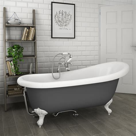 roll top bathtub astoria grey 1710 roll top slipper bath w ball claw leg