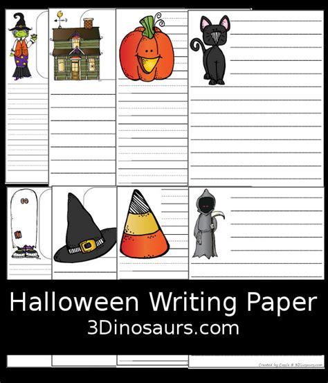 halloween writing themes fun free halloween themed writing paper 3 dinosaurs