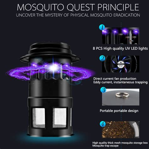 Mosquito Killer L 4 Led level up 8pcs led lights 4w mosquito killer insect killer bug zapper with fan ebay