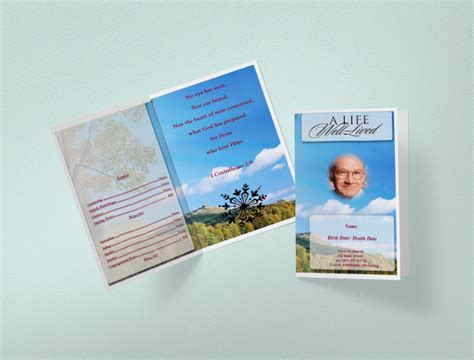 general cards template funeral program using funeral template unlimited content