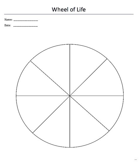 blank wheel of life template images templates design ideas