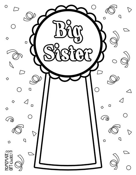 Big Sister Coloring Page Big Printable Coloring Pages