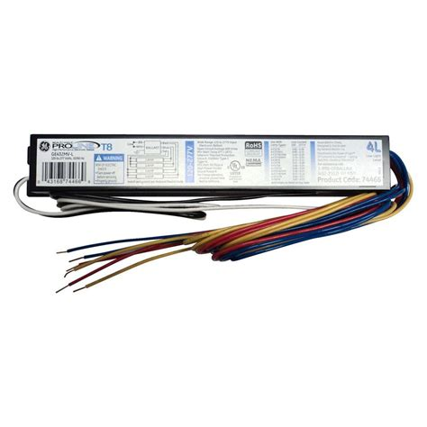 2 l t12 ballast ge 120 to 277 volt electronic low power factor ballast for