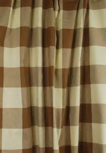 Buffalo Plaid Curtains Brown Buffalo Check Drapery Fabric Poseidon Acorn Fabricut Ebay