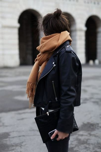 Jaspria Jaket Casual Comby Style jacket perfecto scarf camel bag streetstyle winter