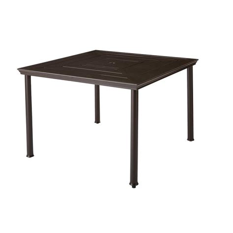 Square Patio Table Hton Bay Middletown Square Patio Dining Table D11200 Tq The Home Depot