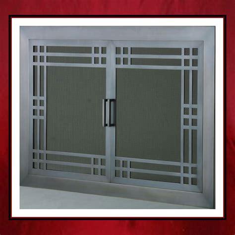 Custom Fireplace Screen Doors by Craftsman Style Fireplace Door Northshore