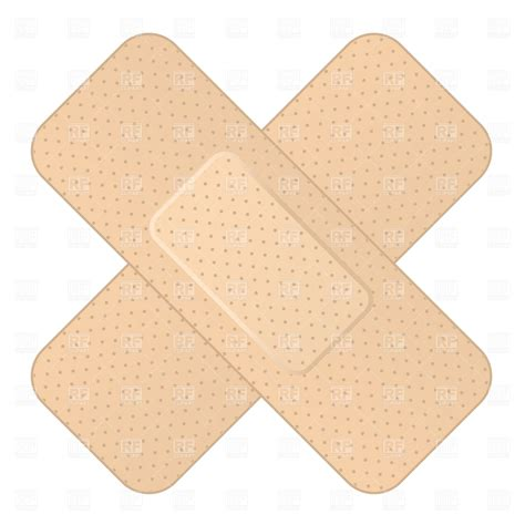 bandage clipart crossed bandage 1351 healthcare