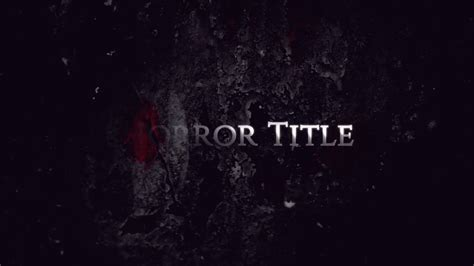 templates after effects horror horror title after effects templates youtube