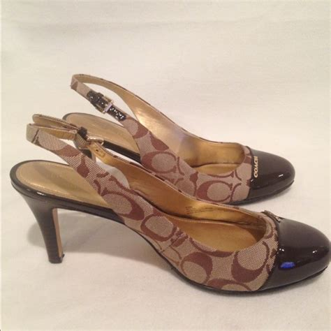 high heels coach 91 coach shoes coach slingback stiletto high heels