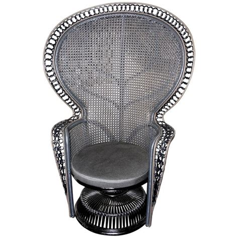 Black And Grey Armchair Emmanuelle Armchair Black And Grey Finish For Sale At 1stdibs